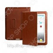 Чехол для iPad 2/ iPad new Yoobao Lively Leather Case. Цвет: коричневый фото