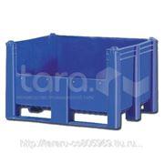 Пластиковый контейнер (Box Pallet) арт. 11-100-DA с полубоковиной фото