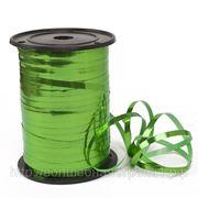 Лента металл зеленая 0,5 см фото