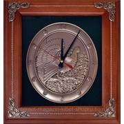 Деревянная ключница-часы настенная Глухарь фото