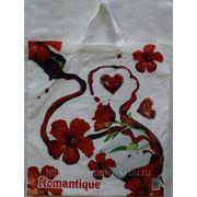 Пакет с петлевой ручкой (38х45) Romantique ПНД Пропластик 10/50 фото