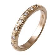 Кольцо обручальное вес 2.9гр , вставки - бриллиант 5Кр 57-0.07ct 2/2, цвет желтый, артикул - VL-40 фото