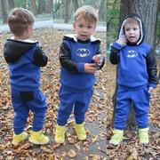 """Детский теплый комбинированный костюм со значком """"Бетмена"""", 2 цвета фото"""