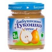 Пюре Бабушкино Лукошко - груша, 100г, 3.5 мес фото