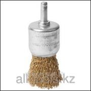Щетка Stayer Master кистевая для дрели, витая стальная проволока 0,3 мм, 24мм Код:35113-24 фото