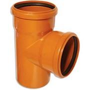 Тройник канализационный наружный 160/160мм, 87 градусов фото