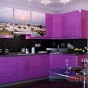 Кухня с фотофасадом (закат солнца) фото