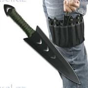 Нож метательный 6 штук набор с ножнами фото