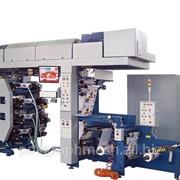Машина ФДР-420/8 флексопечатная 8-ми красочная с центральным печатным цилиндром для нанесения многокрасочного изображения на рулонный материал шириной до 420 мм. фото