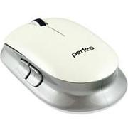 Мышь беспроводная usb, Perfeo PF-355, 5 кнопок, белая фото