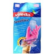 Перчатки Vileda для деликатных работ, размер M фото