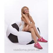 Кресло-мяч 100 см из ткани Оксфорд черно-белое, кресло-мешок мяч фото