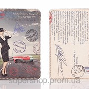 Кожаная обложка на паспорт Ukrainian tourist 156-1552515 фото