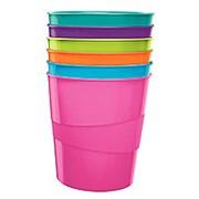 Корзина для мусора Leitz WOW, 15 литров, розовая глянцевая фото