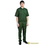 Костюм офисный МО короткий рукав RipStop-170 зеленый фото