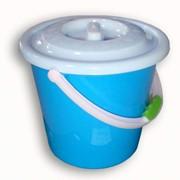 Ведро голубое с крышкой фото
