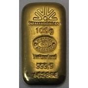 Слитки золота 100 гр литье фото