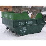 Бункер для сбора ТБО мусора 10 м.куб. фото