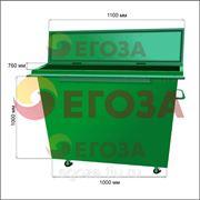 Евро контейнер для сбора ТБО (Толщина металла 1,5мм) фото