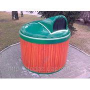 Полуподземный (заглубленный) мусорный контейнер фото
