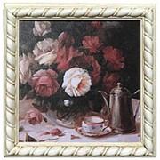"Картина ""Натюрморт с розами"" Анжела Вернетти 36х36см. арт.1614-12 фото"