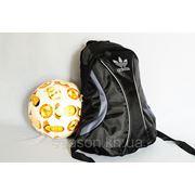 Спортивный рюкзак Adidas R-1. (черный + серый) фото