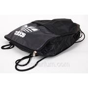 Рюкзак-мешок спортивный Adidas черный 42х34 BK702-703black /0-53 фото