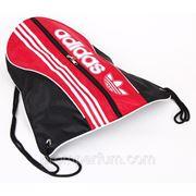 Рюкзак-мешок спортивный Adidas черный с красным 47х44 BK702-703blackRed /0-33 фото