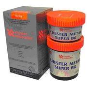 Двухкомпонентный металлонаполненый композитный состав для ремонта изделий из бронзы Chester Металл Super Br фото