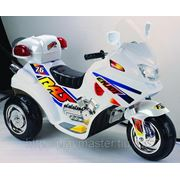 Аккумуляторный мотоцикл, белый фото