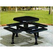 Стол со скамьями во двор фото