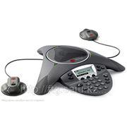 SoundStation IP6000 (SIP) conf phone. AC pwr or 802.3af Power over Ethernet. Includes 100-240V power supply, 0.4A, 48V/19W; 25 ft/6m Cat5 shielded Eth фото