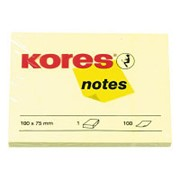 Блок-кубик Kores бум.для зам. 100х75 желтая 100л. '46100 фото