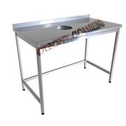 Производственные столы с отверстием для пищевых отходов фото
