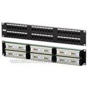 """Патч-панель Nets 24xRJ45 UTP Cat 5E Dual IDC 19"""" 1U Black (NETS-PP-KUTP48-1U) фото"""