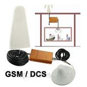 Усилитель сигналов GSM / DCS и антенны(внутренняя и внешняя) 200 кв.м. фото