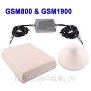 Усилитель сигналов двудиапозонный GSM800 & GSM1900 и антенны внутренняя и внешняя фото