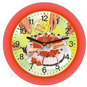 Часы настенные с полиграфической вставкой фото