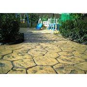 Декоративный печатный бетон. фото