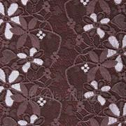 Кружево эластичное Chanty цвет темный орех/бледно-розовый артикул 65602 фото