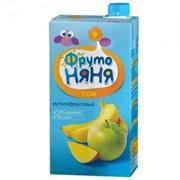 Фрутоняня сок мультифруктовый (яблоко, манго, банан) б/сах. с мяк. (с 3 лет) 0,5л фото