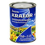 Эмаль ПФ-115 красная (Krafor) 0,8кг фото