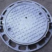 Люк чугунный канализац. тяжёлый типа Т (С250) К.1-60 фото