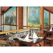 Дизайн интерьера с элементами декоративной росписи стен - Ресторан 1 фото