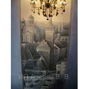 Художественная роспись стен по штукатурке фото