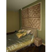 Обивка стен тканью фото
