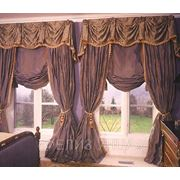 Пошив штор, ламбрекен фото