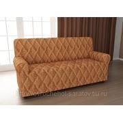Чехол на трехместный диван Ромбы оранж фото