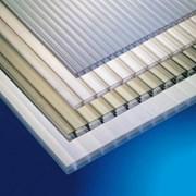 Листы(сотовгоканального) поликарбоната 45810 мм. Цветной и прозрачный. фото