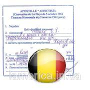 Апостиль для Бельгии фото